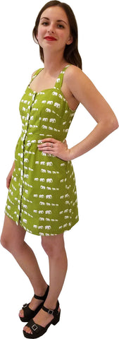 Sienna Dress - Green Elephant