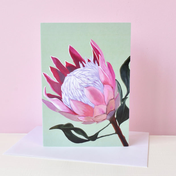 Pink Protea Card