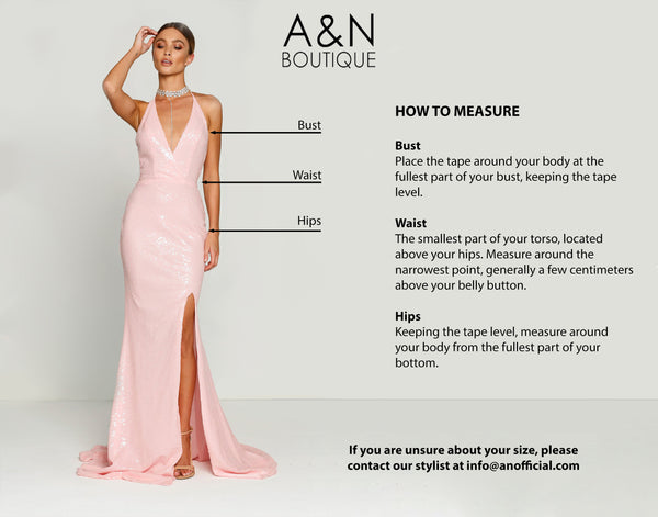 A and N Boutique Measurement Guide