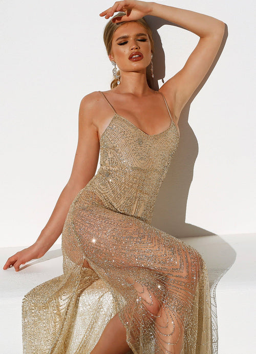 Jewels Gown - Gold