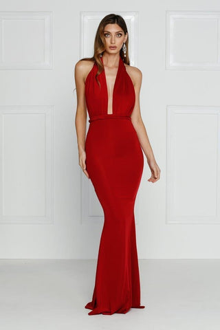 Florencia Maxi Formal Gown - Red