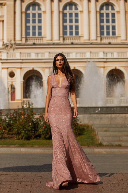 Georgina Lace Gown - Mauve