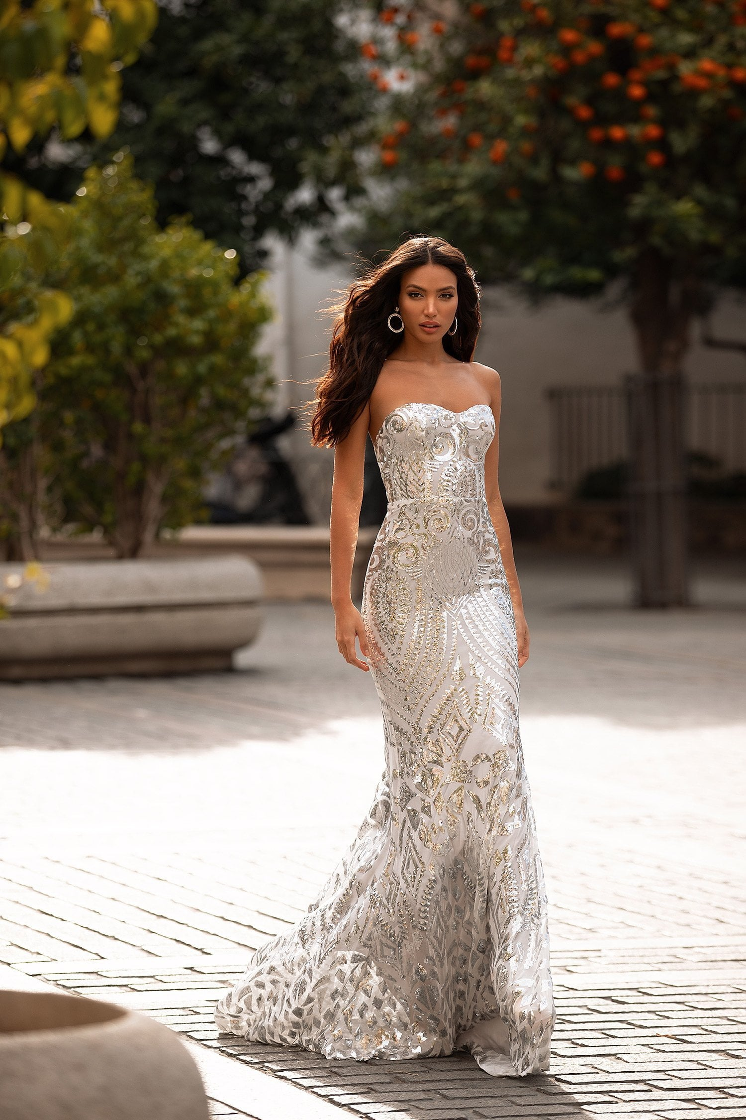 Malisa Sequin Gown - Silver