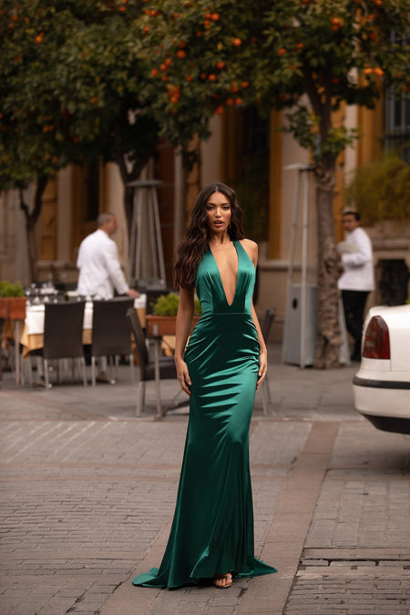 A&N Luxe Kiara Satin Gown - Multiple Colours