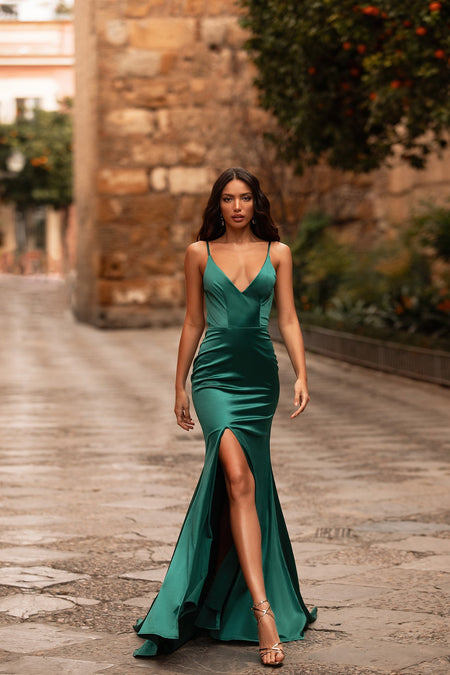 Jaime Sequin Gown - Emerald
