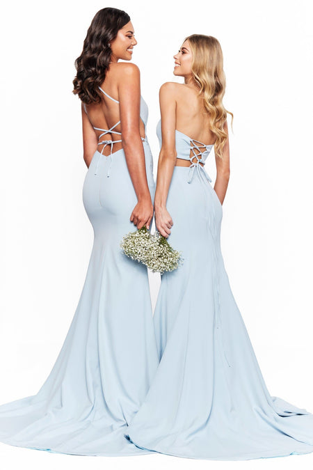 A&N Bridesmaids Karli Shimmering Gown - Navy