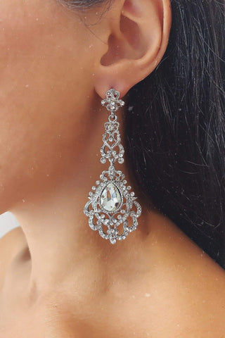 Glazori Bahar Silver Drop Earrings