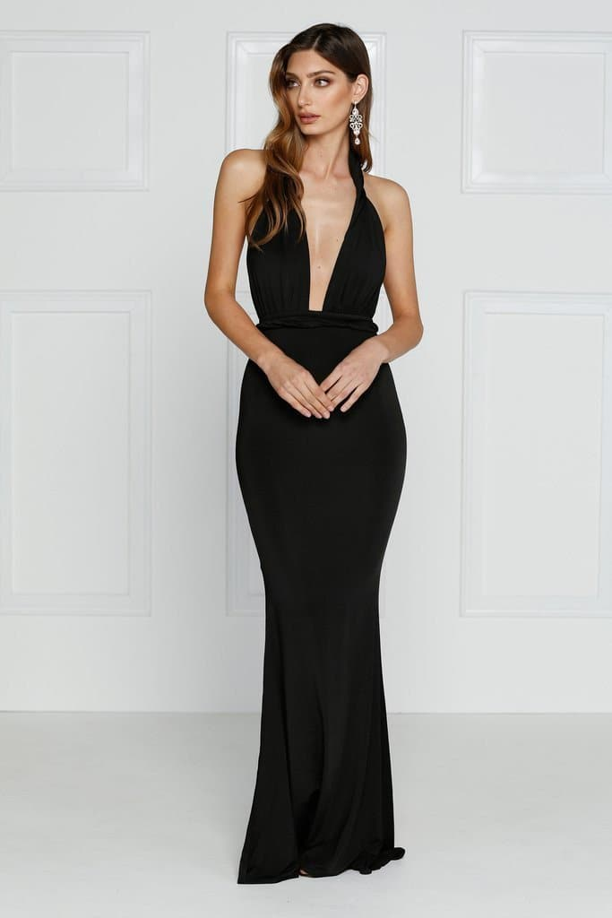 Florencia Maxi Formal Gown - Black