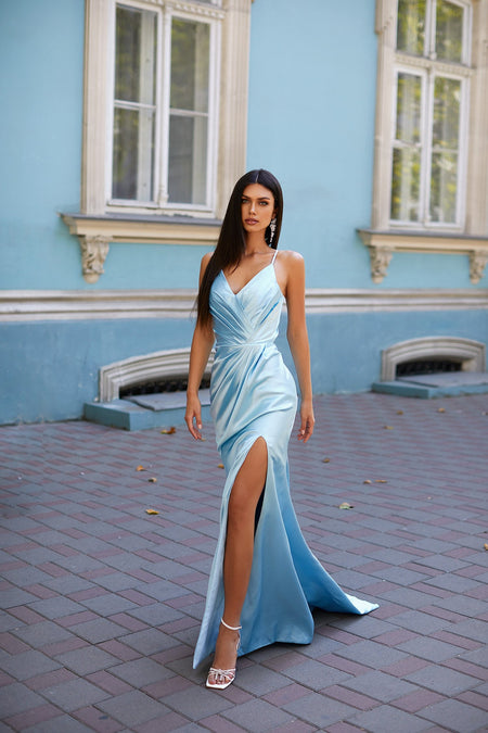 Felicita Satin Gown - Emerald
