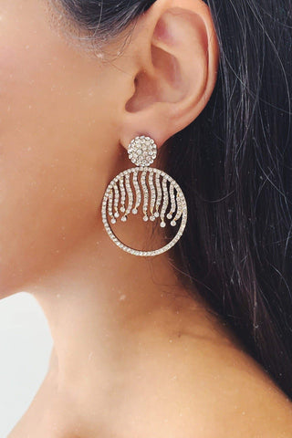 Glazori Rita Earrings with Silver Crystals