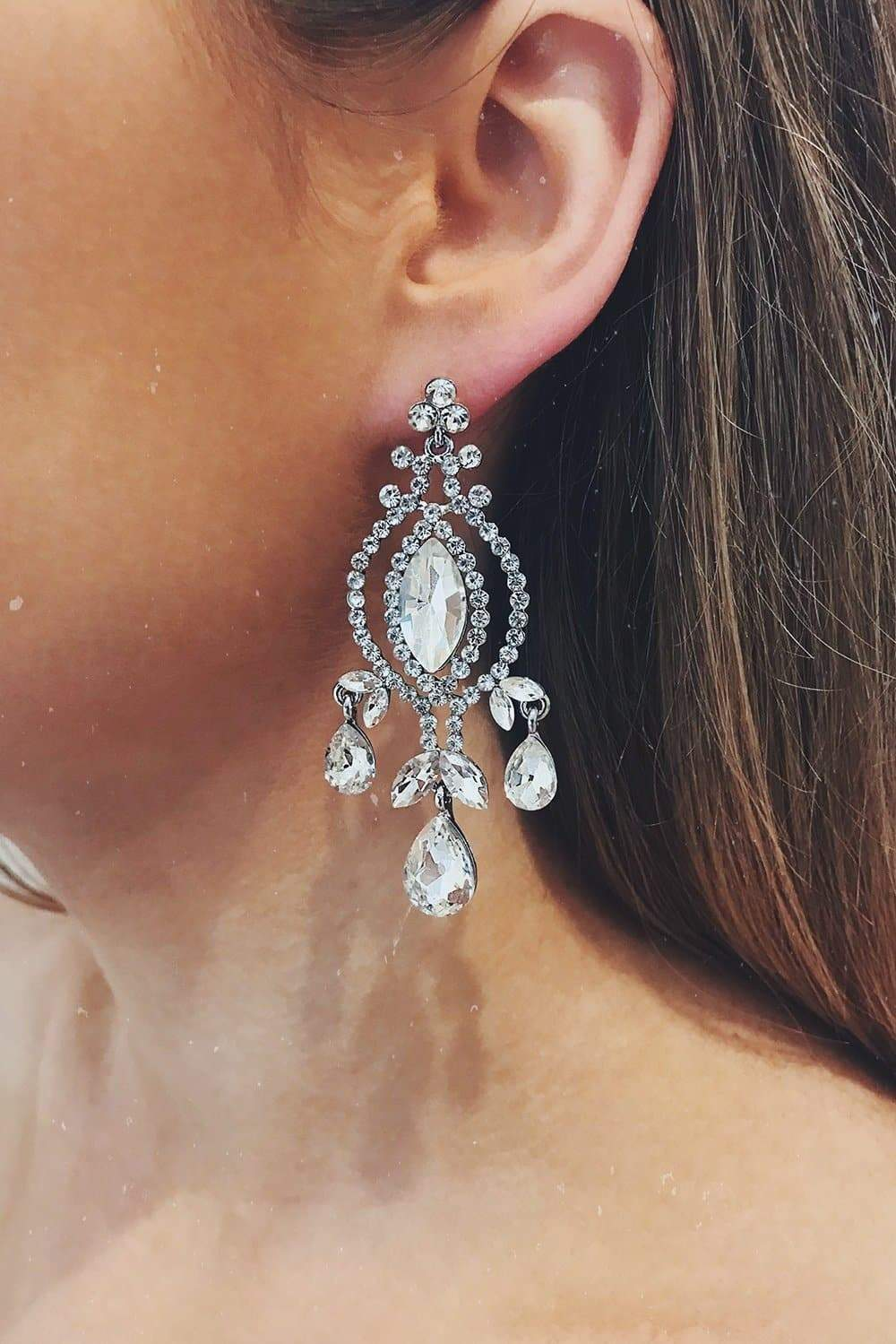 Glazori Ivy Silver Statement Earrings