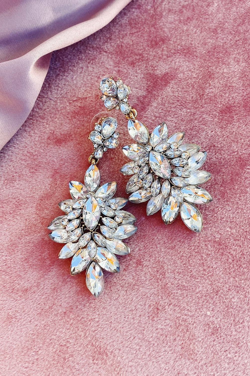 Glazori Celestia Crystal Drop Diamond Earrings