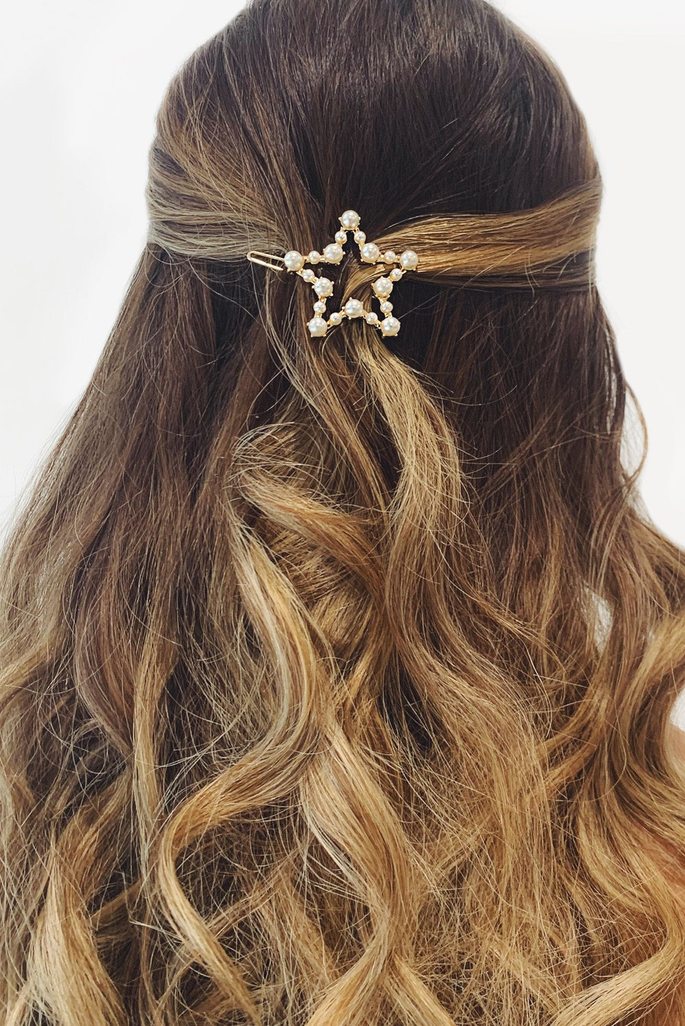 Star Gold Pearl Hair Pin