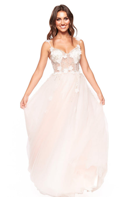 A&N Luxe Chiara Gown - Peach