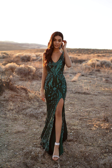 A&N Luxe Yoven Sequin Gown - Rose Gold