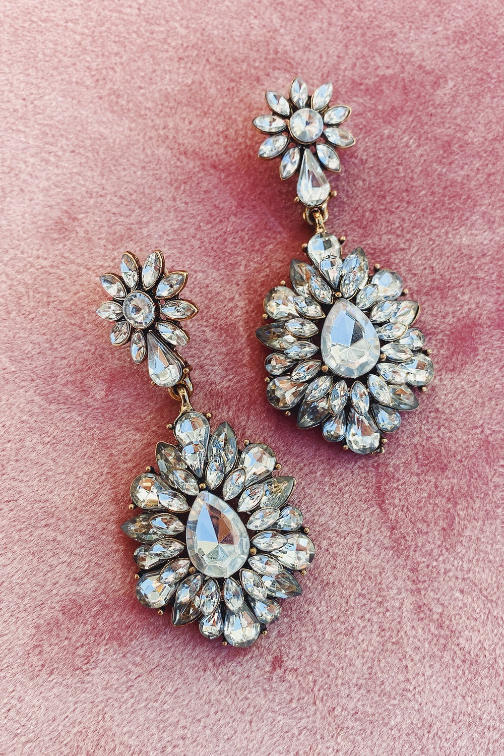 Glazori Inesa Crystal Drop Tear Earrings