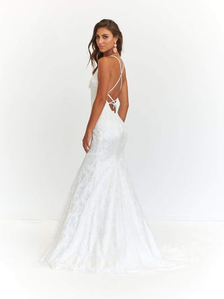 In stock - Aisha Lace Gown - White