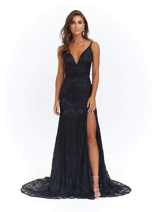 In stock - Ayla Lace Gown - Black