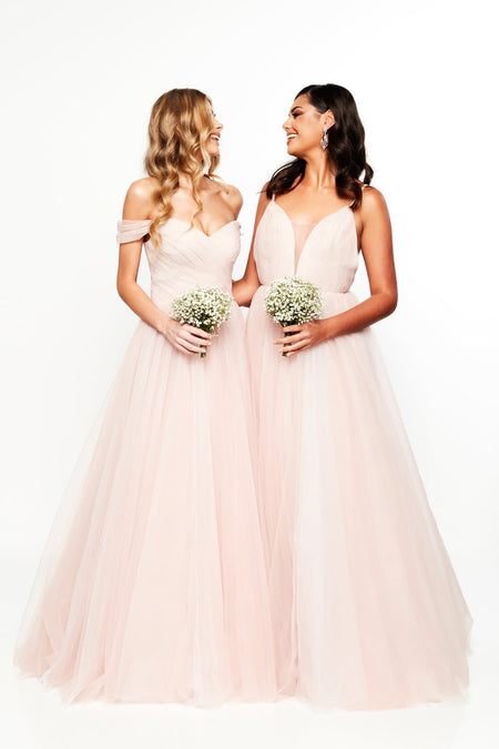 A&N Bridesmaids Imani Gown - Sky Blue