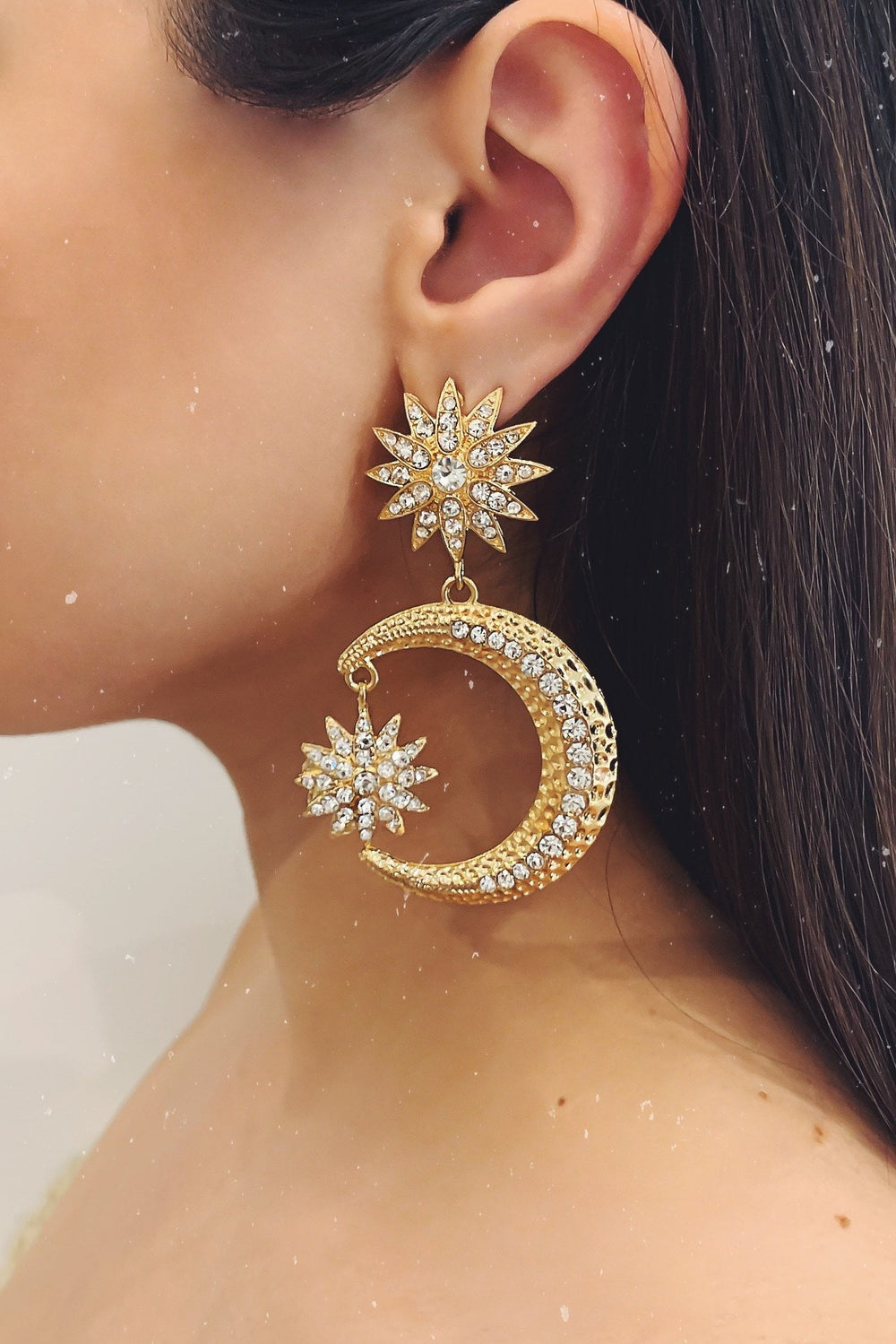 Glazori Imani Gold Star Earrings