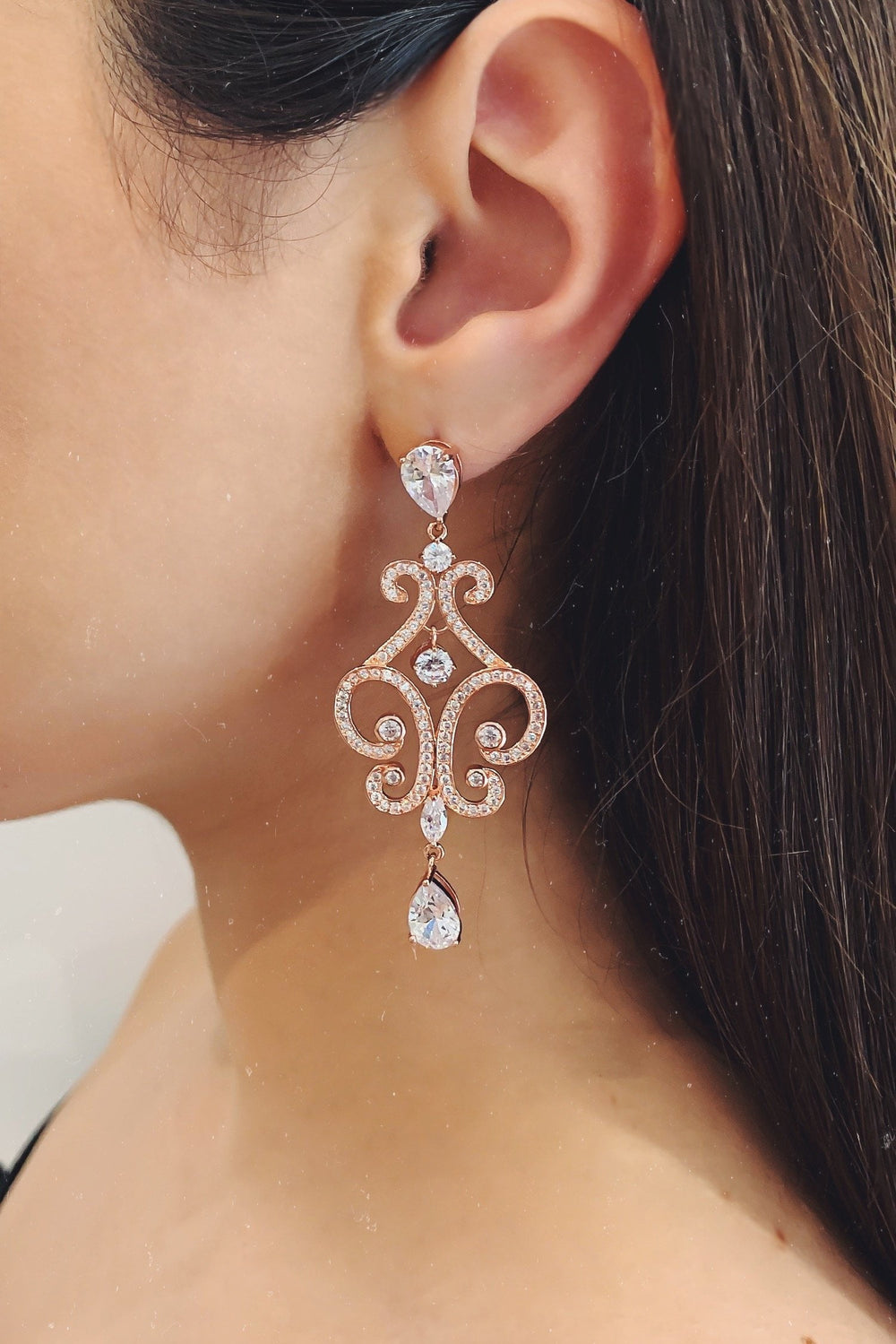Glazori Harper Crystal Teardrop Earrings