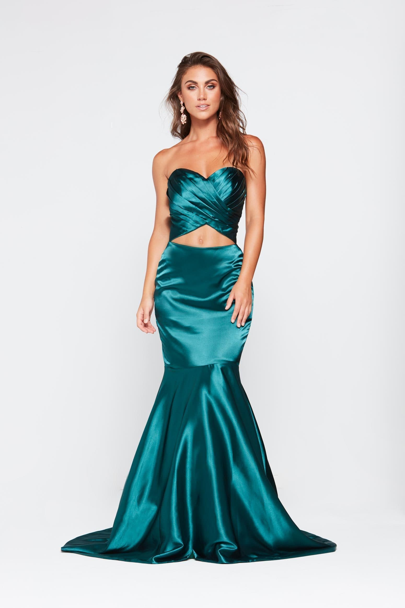To acquire Satin emerald gown pictures trends