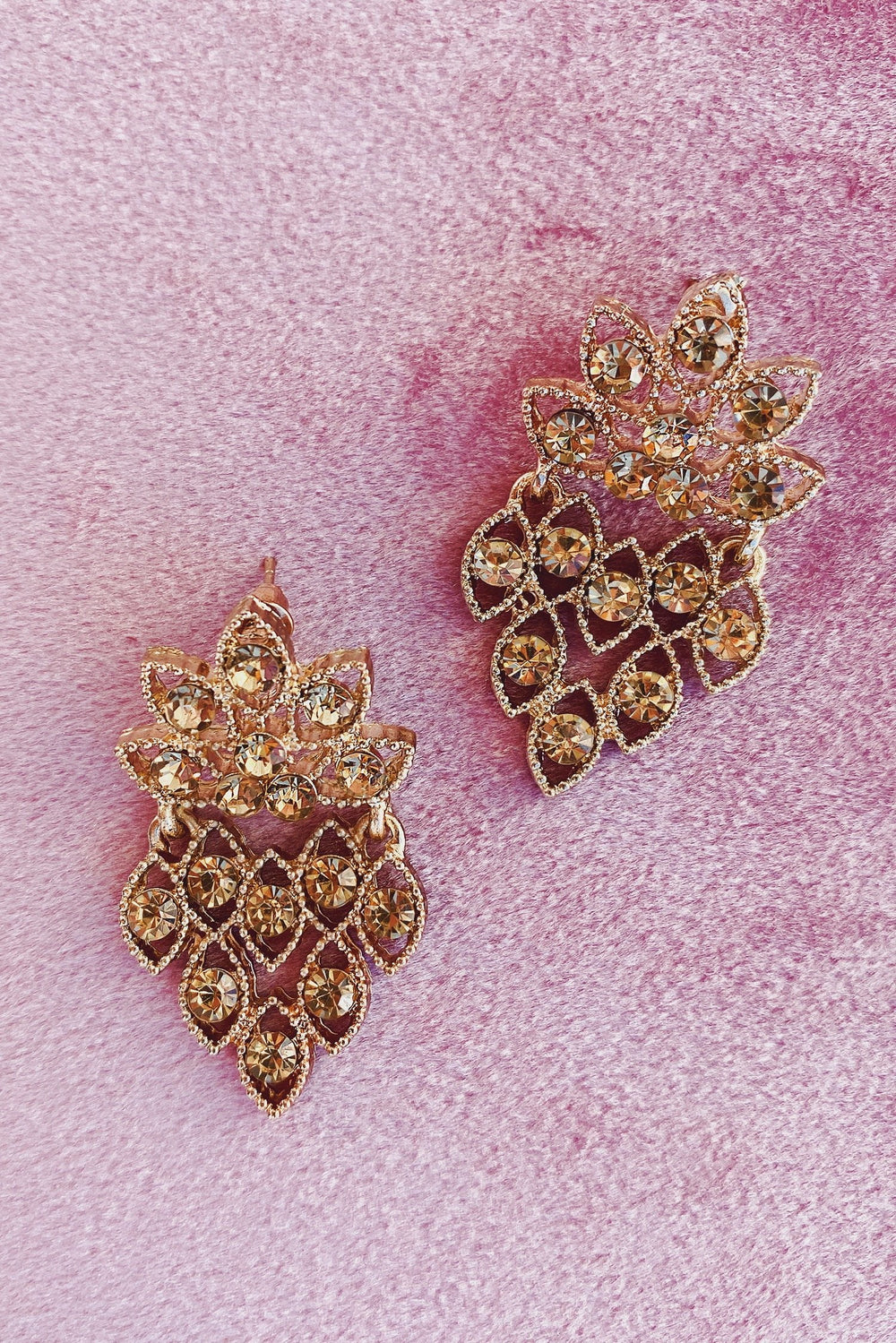 Glazori Estera Gold Embellished Earrings