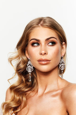 Glazori Camila Chandelier Earrings Silver
