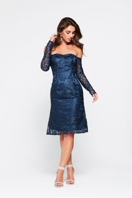 A&N Lea Lace Cocktail Dress - Black