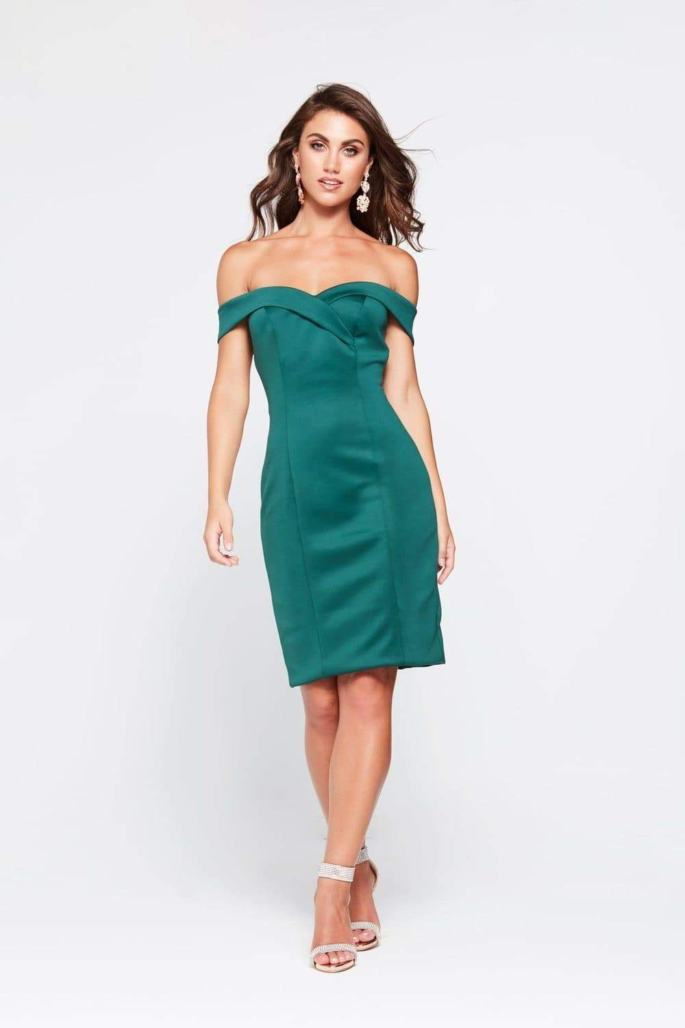 Final sale - Ester Ponti Cocktail Dress - Emerald