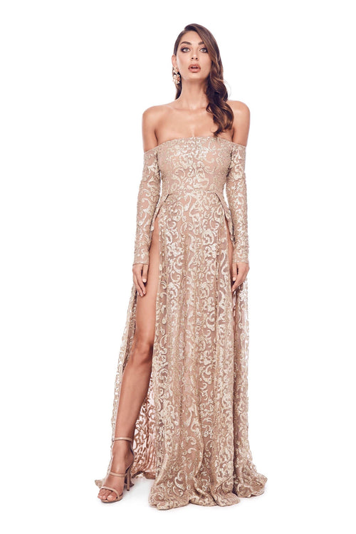 Flame Gown - Gold