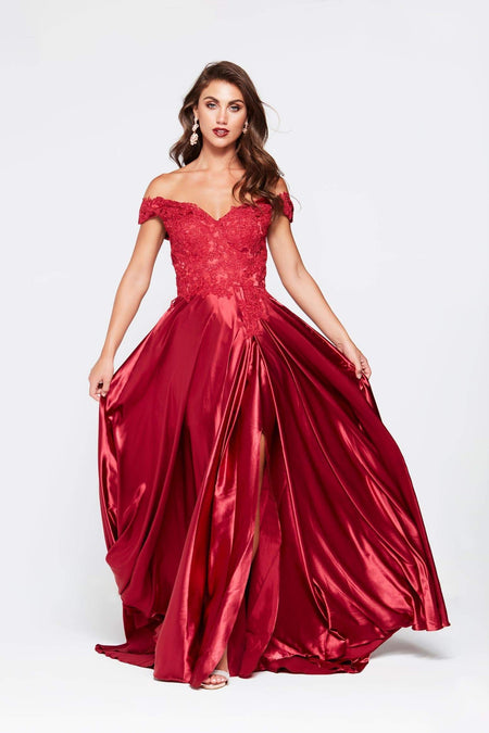 A&N Luxe Amelia Satin Gown - Multiple Colours