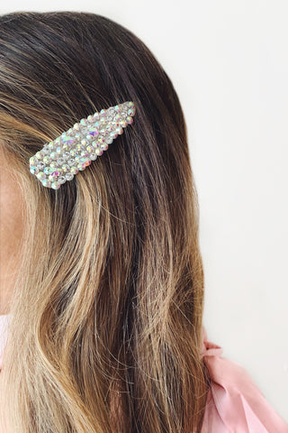 Iridescent Crystal Large Hair Clip