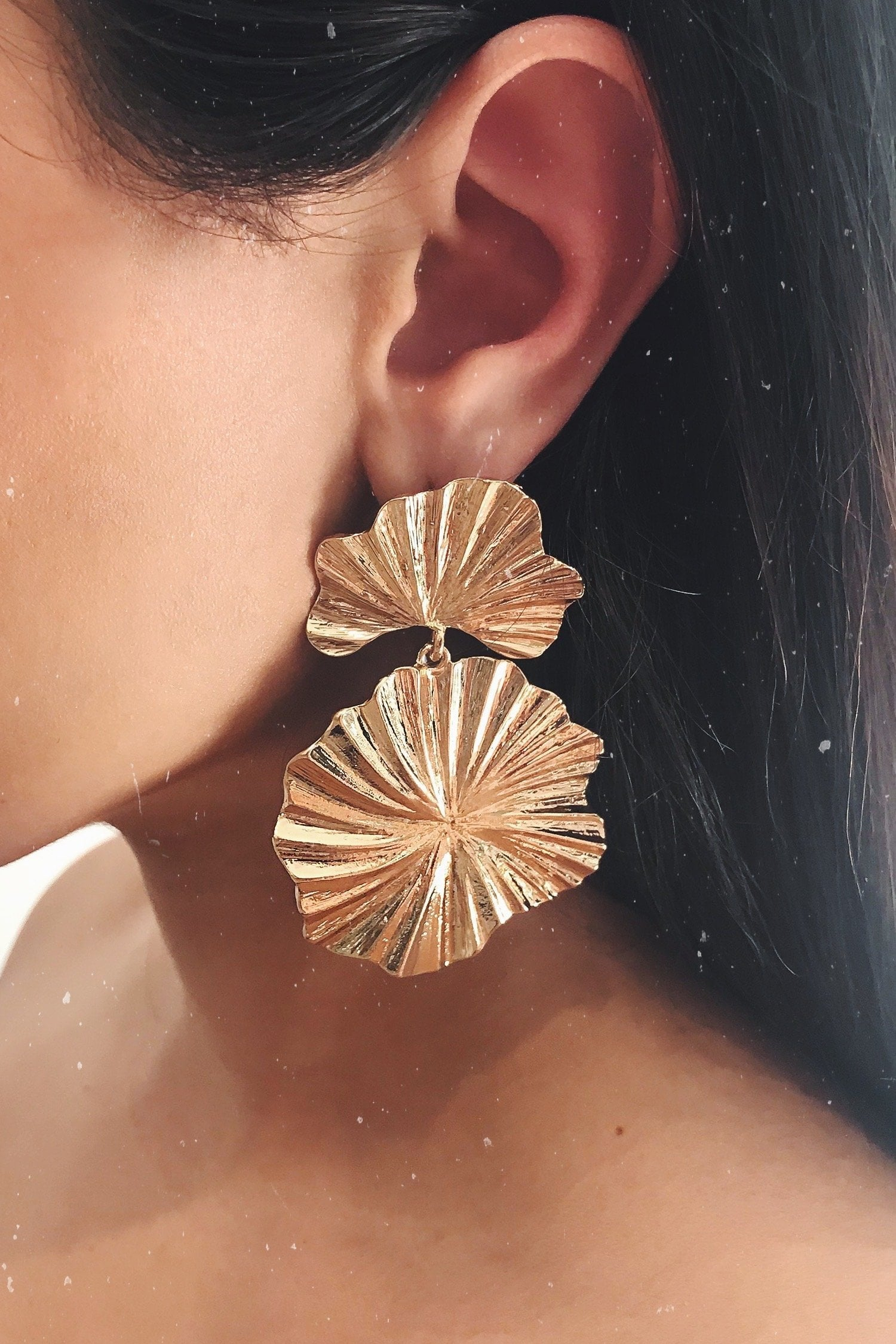Glazori Kadisha Gold Statement Earrings