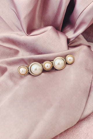 Rose Gold Pearl Bubble Detail Hair Clip