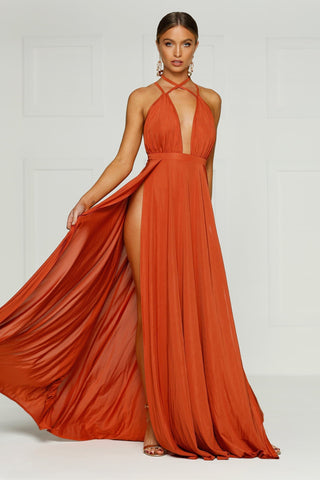 Stella Gown - Golden Rust