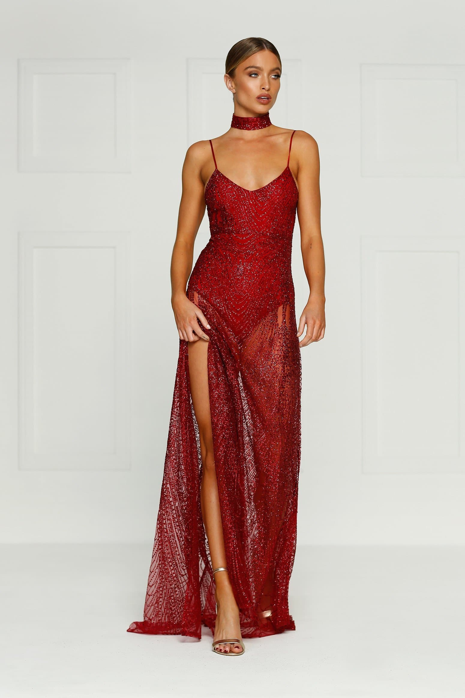 Jewels Gown - Burgundy