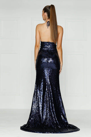 A&N Luxe Kylie Sequin Gown - Navy