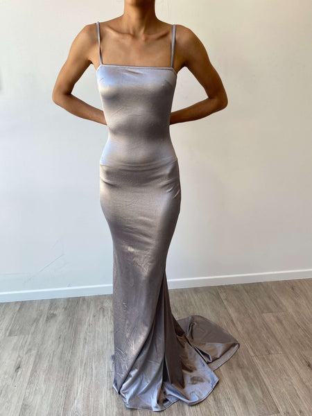 A&N Alia Sequin Gown - Silver