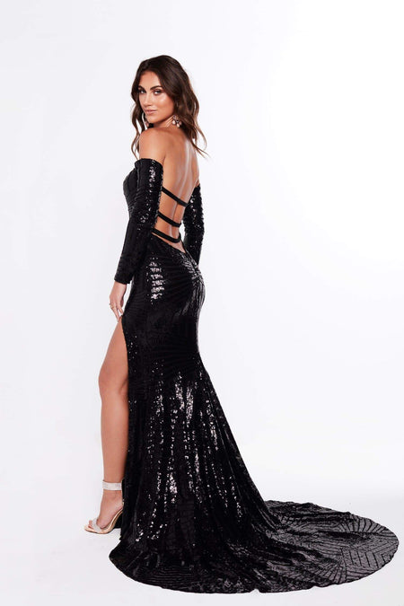 A&N Luxe Kenya Gown - Black