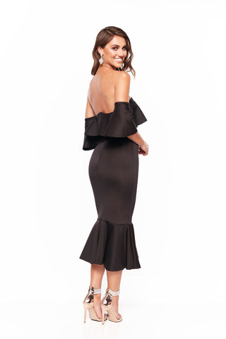A&N Selena Off Shoulder Elegant Cocktail Dress - Black
