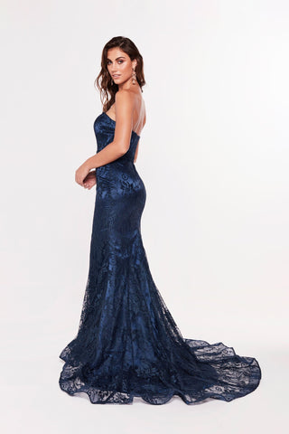 A&N Luxe Leanna Lace Gown - Navy