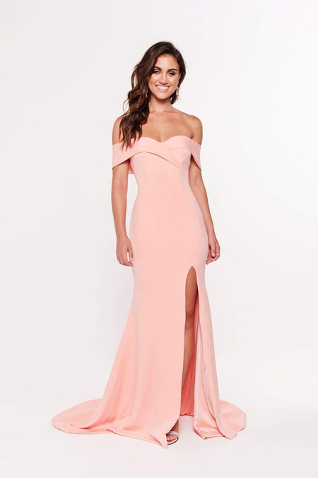 Layali Lace Gown - Hot Pink