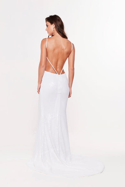 A&N Luxe Eneya Sequins Gown - White