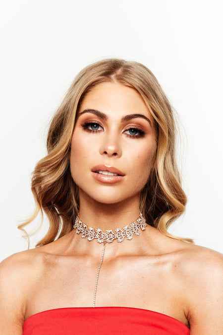 Glazori Ayla Crystal Statement Choker Gold