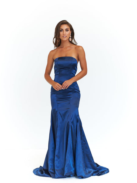 A&N Luxe Aino Satin Gown - Teal