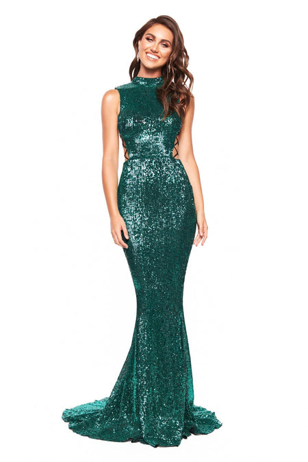 A&N Luxe Regina Sequin Gown - Black