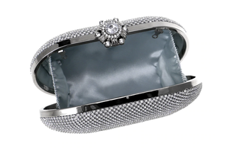 Glazori Statement Diamond Clutch - Silver
