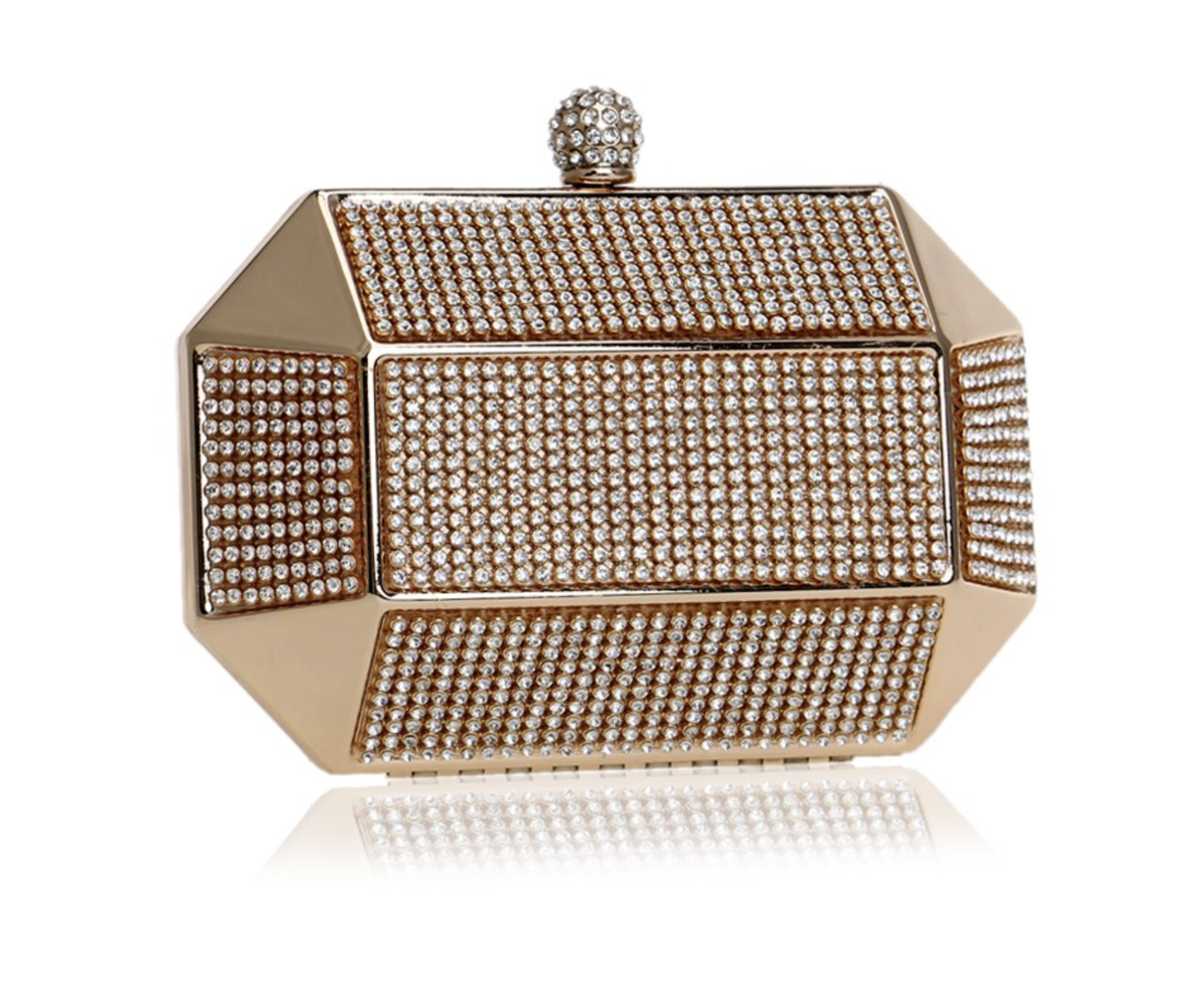 Glazori Prism Diamond Clutch - Gold