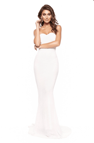 In stock - Chloe Sparkling Gown - White